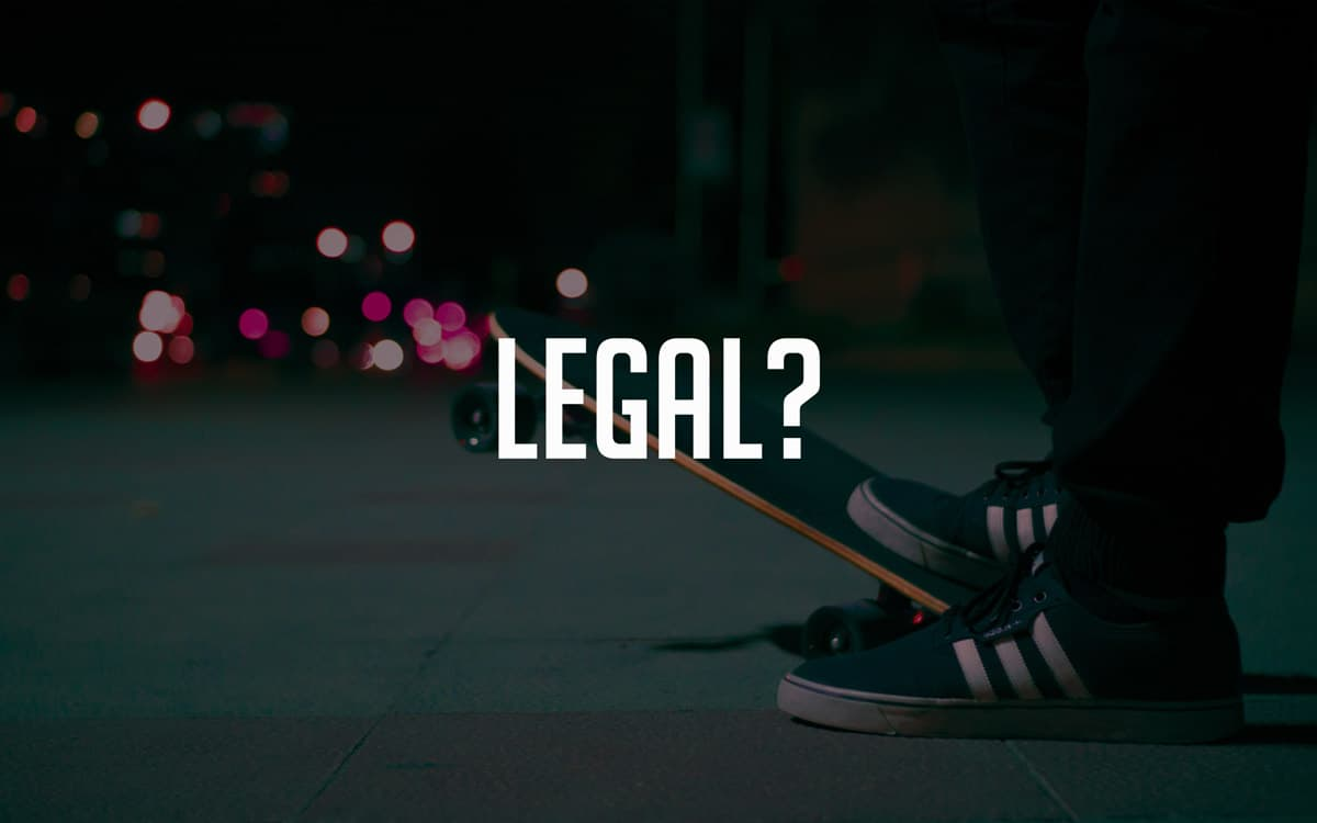 are electric skateboards legal