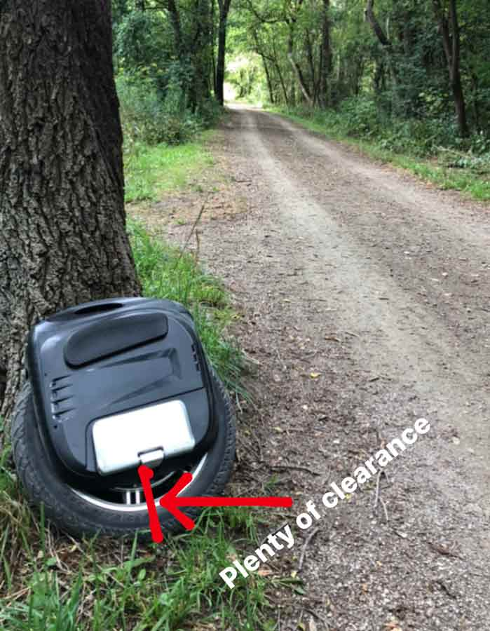 Electric Unicycle Pedal Clearance