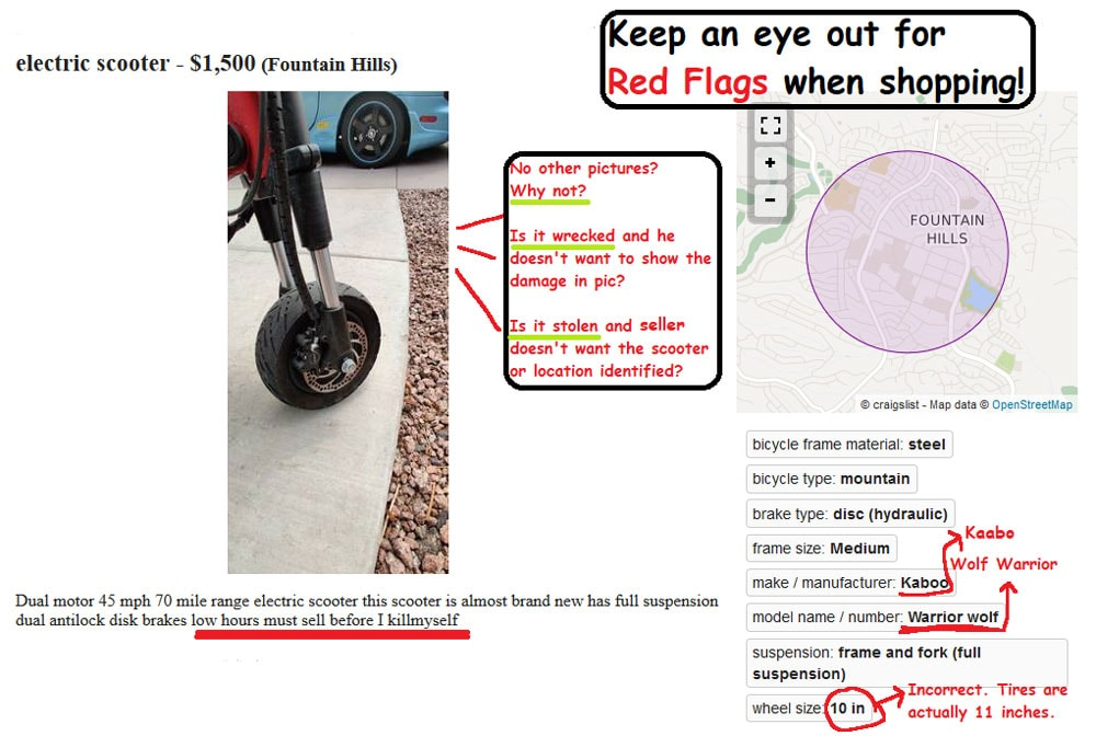 buying a used electric scooter
