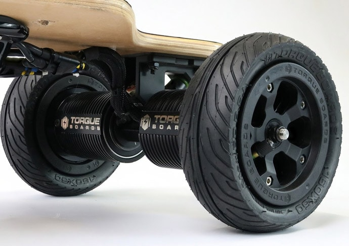 torqueboards direct drive motor kit with AT wheels